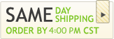 Same Day Shipping - Order by 4:30pm CST